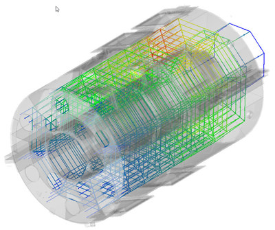 CAD-integrated 3D flow network model designed in Flow Simulator to solve challenging thermal management problem of an aerospace engine under cowl.