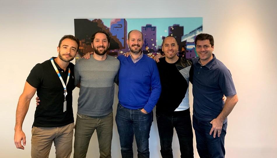 The RecargaPay executive team, from left to right: Renato Camargo, Country Manager & CMO, Alvaro Teijeiro, Co-Founder & CTO, Gustavo Victorica, Co-Founder & COO, Rodrigo Teijeiro, Founder & CEO, Diego Escobar, CFO
