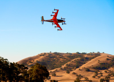 Emergency response and healthcare company Falck announced a partnership with Silicon Valley-based Kitty Hawk, a pioneer of all-electric vertical takeoff and landing (eVTOL) aircraft. The partnership will explore applications for eVTOL in emergency response operations, making emergency healthcare more accessible and affordable. Here, Kitty Hawk's Heaviside eVTOL aircraft completes a test flight.