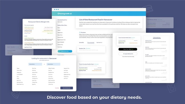 Discover food based on your dietary needs