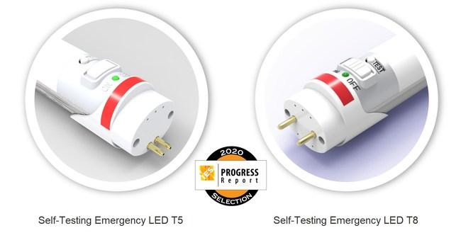 Self-testing Emergency Tube Lamp