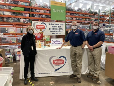 Left to Right: Michal Smith, Executive Director, Cradles to Crayons; Steve Lenahan, Customer Service Center Manager, Suburban Propane, Telford, PA; and Jason Trotter, Operations Manager, Suburban Propane Telford, PA.