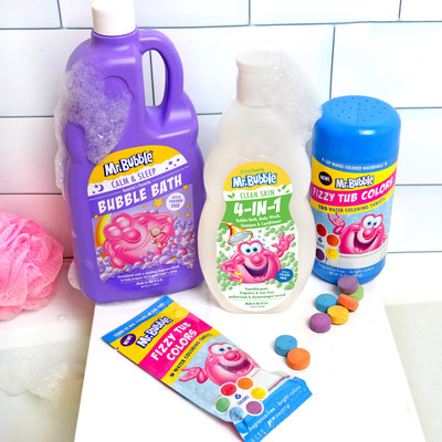 America's favorite bath-time buddy, Mr. Bubble, is marking the brand's 60th anniversary by offering three new bubblin' fun products for kids and families who may be looking for new ways to amp up the fun in their lives: Calm & Sleep Bubble Bath, Fizzy Tub Colors and Clean Skin 4in1.