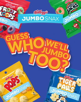 "Kellogg's® Jumbo Snax is launching a new flavor on National Snack Day to celebrate the food holiday. Guess which new cereal will be ""jumbo-fied"" next on social using #JumboSnax."