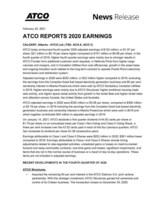 ATCO报告2020年收益