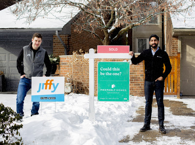 Properly Partners with Jiffy to 'Polish' Homes; Maximizing Value For Sellers (Left: Ryan Shupak, co-founder and CEO, Jiffy, Right: Anshul Ruparell, co-founder and CEO, Properly) (CNW Group/Properly)
