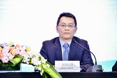 Discurso de Zhou Taoyuan, vicepresidente de Huawei y presidente de Digital Power Product Line (PRNewsfoto/Huawei)