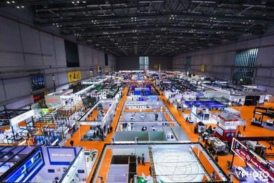 The Intelligent Industry Information Technology Exhibition Area of the CIIE (PRNewsfoto/CIIE)