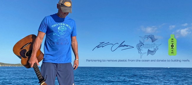 Kenny Chesney's No Shoes Reef joins forces with Deep Ocean Apparel to benefit ocean habitat
