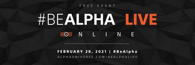 Register today and join us at #BeAlpha Live Online!