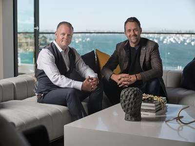 Top-producing agent and well-known investor, author, keynote speaker, podcast host and social media influencer, Andy Dane Carter, and Tim Smith, a Coldwell Banker Global Luxury Property Specialist affiliated with the Newport Beach office of Coldwell Banker Realty.