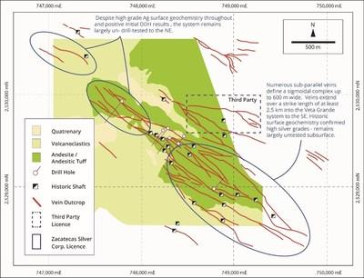 Figure 4 - El Cristo System (CNW Group/Zacatecas Silver Corp.)