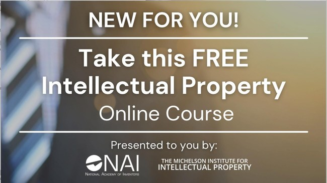 NAI to offer free online IP Curriculum Course through a partnership with the Michelson Institute for Intellectual Property