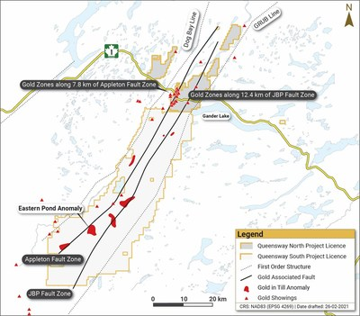 Figure 4. Queensway North and South (CNW Group/New Found Gold Corp.)