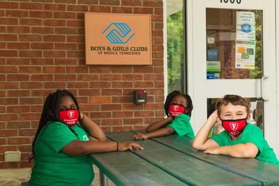 Club kids from Boys & Girls Clubs of Middle Tennessee in 2020 (PRNewsfoto/Bridgestone Americas, Inc.)