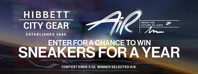 Enter to win a year's worth of sneakers during the month of March from Hibbett Sports.