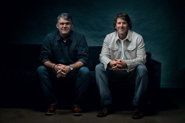 Photo of agency founders Jimmy Bonner (left) and Rob Baker (right).
