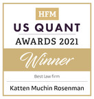 Katten Named Best Law Firm During HFM US Quant Awards 2021