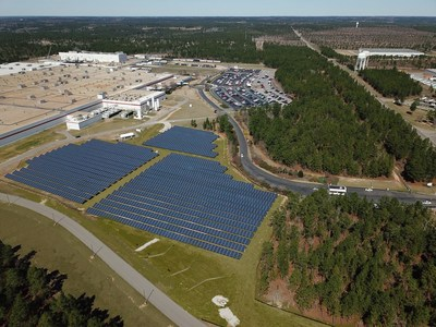 Bridgestone's first ground-based solar array directly powers the manufacturing process at the company's Aiken County, South Carolina Passenger/Light Truck Tire Plant.