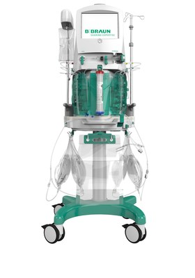 The B Braun OMNI continuous blood purification platform and OMNIset PLUS blood line set.