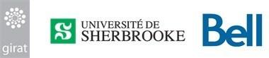 Logos de GIRAT, Université de Sherbrooke et Bell (Groupe CNW/Bell Canada)