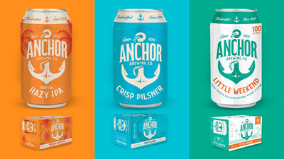 Anchor Brewing Company's Tropical Hazy IPA, Crisp Pilsner and Little Weekend.