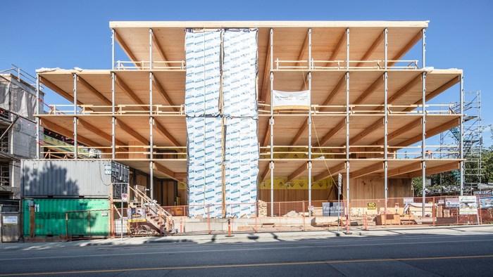 Fast + Epp Home Office。图片来源:Michael Elkan摄影(CNW集团/加拿大木材协会木材工程!BC)