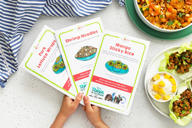 The free downloadable digital Raddish cooking kit features three illustrated recipes as well as Table Talk conversation cards and a bonus educational lesson that teaches kids about the cuisine and flavors of Southeast Asia.