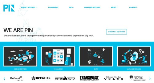 2021 Website Relaunch Homepage on pinbusinessnetwork.com