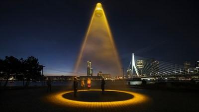 World's first Urban Sun alongside Rotterdam's most iconic landmark, the Erasmus Bridge
