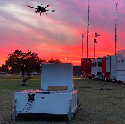 Asylon's DroneCore system provides fully autonomous mission launch, flight, battery swap, and recovery.