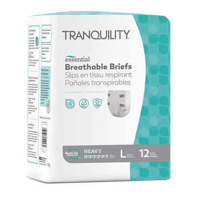 The Tranquility® Essential Breathable Brief is designed to support Medicaid and Long-Term Care wearers with heavy incontinence needs.