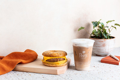 Everything Plant-Based Breakfast Sandwich and Horchata Cold Brew Oat Latte