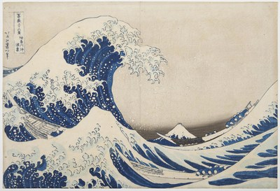 Katsushika Hokusai (1760-1849) -- Under the well of the Great Wave off Kanagawa -- Sold by Christie's