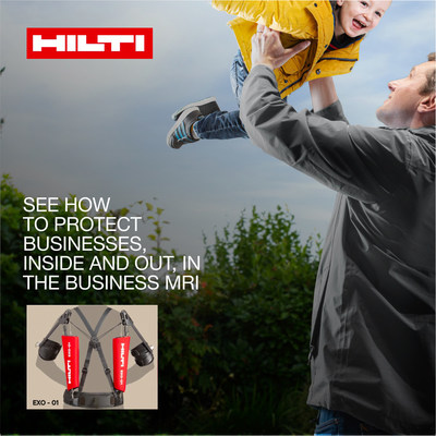 Protect your people and your business. Download the Hilti Exoskeleton MRI report on musculoskeletal injuries. (PRNewsfoto/Hilti)