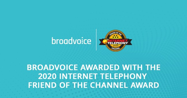 Broadvoice Named a Winner of the 2020 INTERNET TELEPHONY Friend of the Channel Award