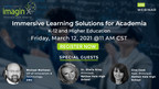 Upcoming Webinar Hosted by imaginX: Immersive Learning Solutions for Academia, K-12 and Higher Education