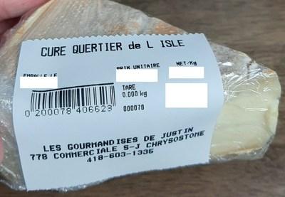 Cure Quertier de L'Isle (Groupe CNW/Ministère de l'Agriculture, des Pêcheries et de l'Alimentation)
