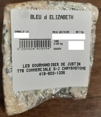 Bleu d'Élizabeth (Groupe CNW/Ministère de l'Agriculture, des Pêcheries et de l'Alimentation)