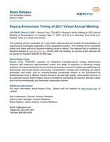 Keyera Announces Timing of 2021 Virtual Annual Meeting (CNW Group/Keyera Corp.)