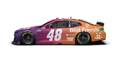 Ally, NASCAR's Alex Bowman and Best Friends Animal Society team up to help local shelters. NASCAR driver Alex Bowman's No. 48 Chevrolet Camaro ZL1 1LE will have a special pet-inspired paint scheme in Phoenix on March 14. Ally is also donating $33,000 to Best Friends-affiliated shelters—$1,000 to a shelter in each city that hosts a NASCAR Cup Series race.
