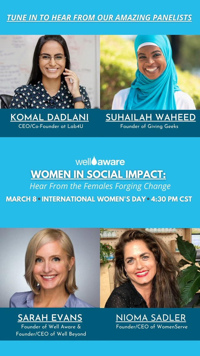 International Women's Day Webinar, March 8th, at 4:30pm CST
