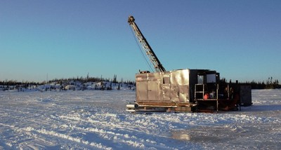 Figure 2. Drilling now underway at Regnault (CNW Group/Kenorland Minerals Ltd.)