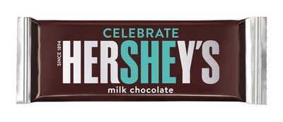 Hershey's highlights the 'SHE' at center of bar packaging