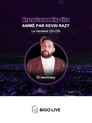 Famous french comedian Kevin Razy held new socially interactive talk show celebrating Valentine's day on Bigo Live (PRNewsfoto/Bigo Live)