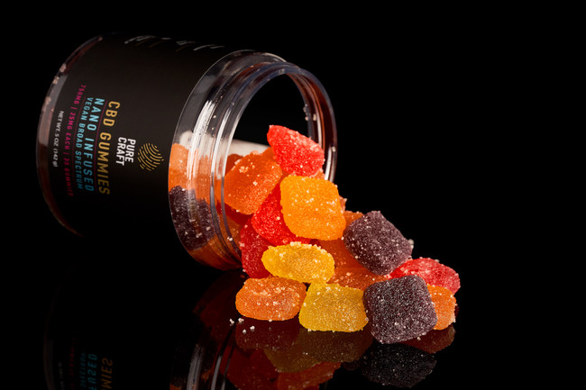 Pure Craft CBD Nano Infused Vegan Broad Spectrum Gummies