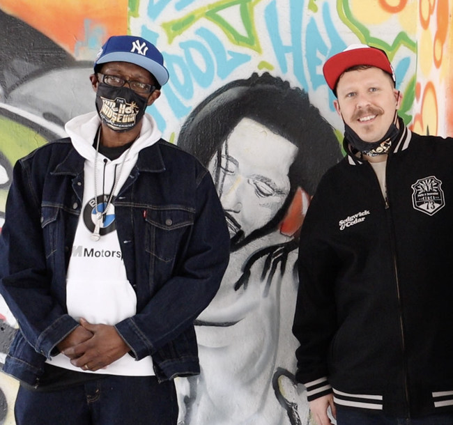 The Father of Rapping & Co Founder of Hip-Hop Coke La Rock with Hip-Hop Museum of DC Founder Jeremy Beaver