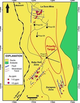 Jabali Mineralized Corridor (CNW Group/Tarachi Gold Corp.)