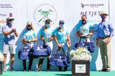 2020 U.S. Open Women's Polo Championship(R) Champions: Hawaii Polo Life - Dolores Onetto, Pamela Flanagan, Mia Cambiaso, Nina Clarkin