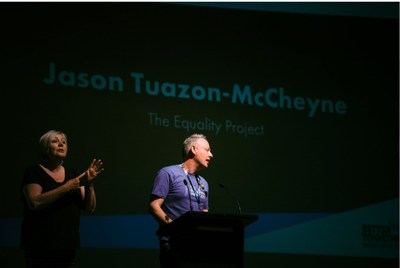 Jason Tuazon-McCheyne, founder of the Equality Project in 2020 Australia's National LGBTQ+ Conference